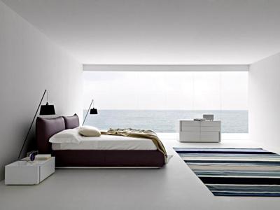 dormitor cu fototapete