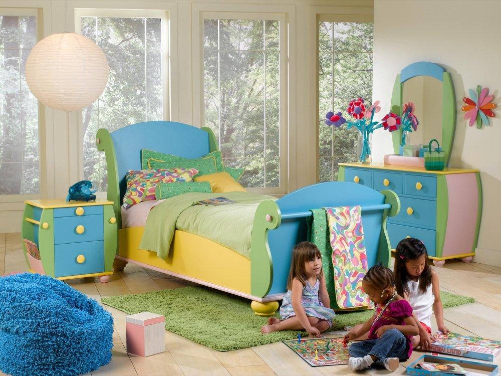 amenajare culori pastelate camera copilului
