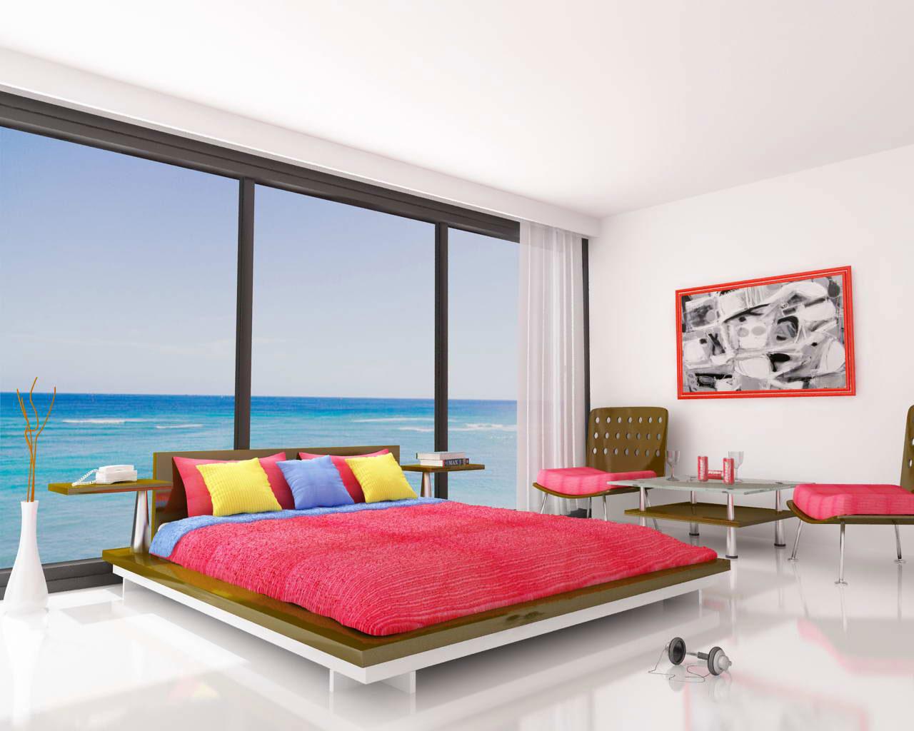 design dormitor de vis