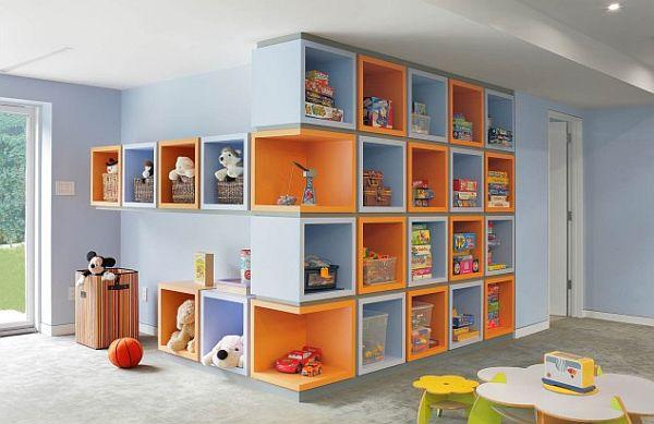 mobila cu rafturi deschise pt copii