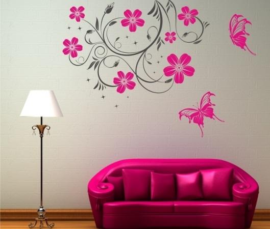 stickere-perete-flori-colorate