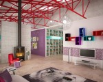apartament modern design pop