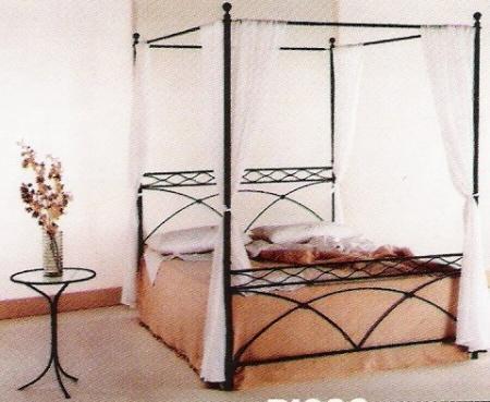 pat de vara cu baldachin